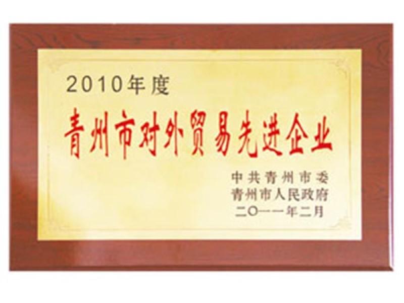 2010年度青州市对外贸易先进企业