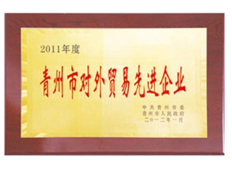 2011年度青州市对外贸易先进企业